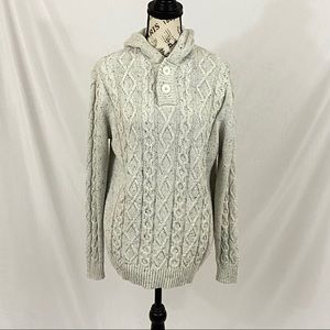 Urban Reef Cream Cable Knit Sweater Size XL